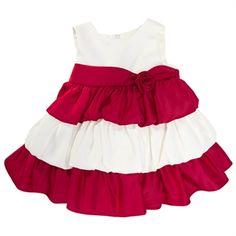 Princess Faith Infant Girl Rose Tiered Dress
