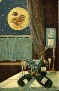 vintage everyday: 30 Strange and Creepy New Year's Postcards from ca. 1900s-1910s