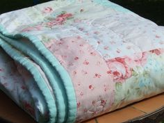 stunning pink shabby chic things | Shabby Chic Quilt - by monkeysinmypocket on madeit