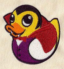 "Embroidery Designs at Urban Threads - Vampire Duckie (#UT2505)  2.75""w x 2.83""h13 August 2010"