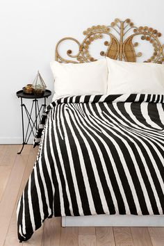 Magical Thinking Zebra Print Duvet Cover