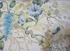 """Diane Marsland, Interior Stylist, Designer and Artist Detail of """"Wisteria Wonderland"""" Mural Dimarsart©2012"""