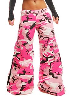 Amok Neon Pink Camo Trooper Pants
