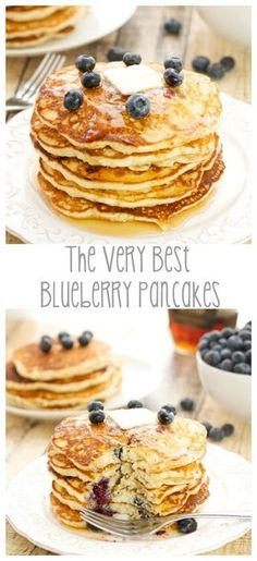 The Very Best Blueberry Pancakes for #BlueberryPancakeDay