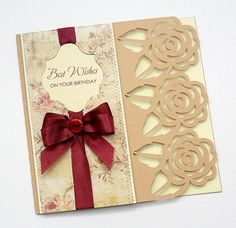 Free SVG best wishes on your birthday card female mum mother grandma aunt etc