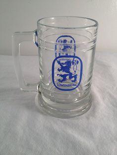 Lowenbrau 5.5in beer mug by ugliducklings on Etsy
