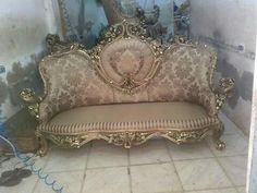 Gold . Gilding . Salon . Chair . Egypt . Damitta
