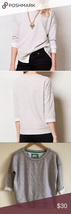"""Anthro Lilka textured gray pullover sweatshirt Size extra small. Laying flat measures approximately 23"""" pit to pit and 22"""" long. Anthropologie Tops Sweatshirts & Hoodies"""