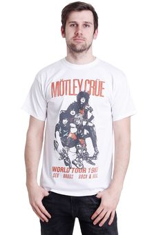 Checkout this out: Mötley Crüe - World Tour Vintage Natural - Camiseta for 18,99 €