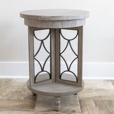 Style your home with the irresistible charm of our Gray Roberta Wood and Metal Accent Table! You'll love the space saving design and metal accents! Metal Accent Table, Metal End Tables, Modern Side Table, End Tables With Storage, Metal Accents, Accent Tables, Side Tables, Affordable Furniture, Furniture Sale