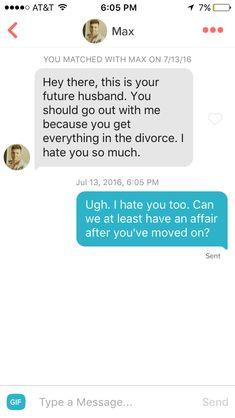 Hilarious Tinder conversation.