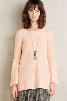 Bell Sleeve Cashmere Tunic #anthropologie