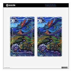 Psychedelic Op Art Landscape Kindle Skins