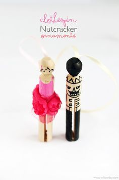 Kid Made: Clothespin Nutcracker Ornaments