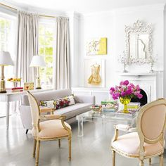 It's hard to pull off peony-pink all over, but this designer did it.