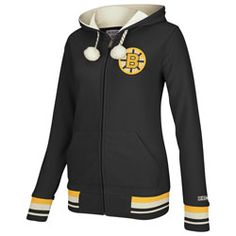 Boston Bruins Women's Black CCM Microfleece Full Zip Fleece Hooded Sweatshirt $74.99 http://www.fansedge.com/Boston-Bruins-Womens-Black-CCM-Microfleece-Full-Zip-Fleece-Hooded-Sweatshirt-_-719897146_PD.html?social=pinterest_pfid28-37764