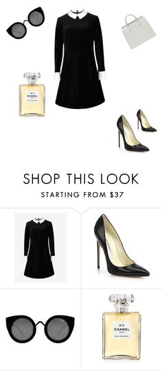 """""""Clássico"""" by helenamba ❤ liked on Polyvore featuring Ted Baker, Brian Atwood, Quay and Chanel"""