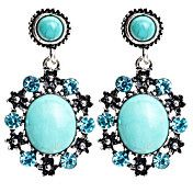 Antique Silver Vintage Green Turquoise Rhines... – USD $ 4.99