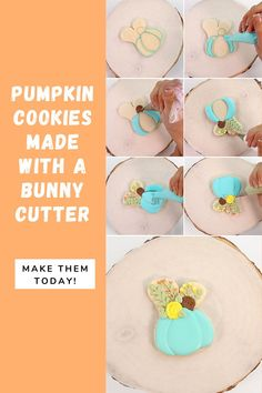 Are you looking for an easy pumpkin cookie to make this fall or Halloween? Try these beautiful and elegant pumpkin cookies! They are made with a bunny cookie cutter, which is sometimes easier to find than a pumpkin cutter. These pumpkin cookies make a beautiful addition to a fall cookie platter, a Halloween party, or as a fun treat to make with your kids! #thebearfootbaker #halloweencookies #halloweentreeats #bakingwithkids Fall Cookies, Pumpkin Cookies, Sugar Cookies, Halloween Cookies, Halloween Party, Halloween Decorations, Little Pumpkin, A Pumpkin, Cookie Countess