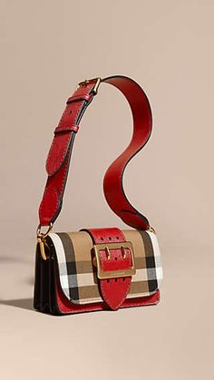 9d7901f220 The Buckle Bag in House Check and Leather Burberry Handbags
