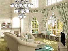 красивый дом с большими окнами