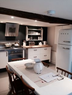 Inspirational Ikea varde units bought on eBay and painted New oak worktop and stainless splashback