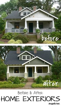 Amazing what a little paint can do! 10 homes that will leave you speechless! http://www.angieslist.com/photos/after-exteriors.htm
