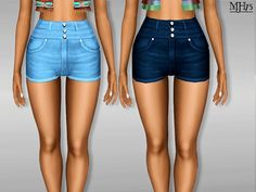 -high waist shorts for your teen ladies to dress up and look cool in  Found in TSR Category 'Sims 3 Female Clothing'