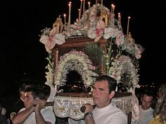 greek orthodox great friday | The bier being taken around the streets on Good Friday on the island ...
