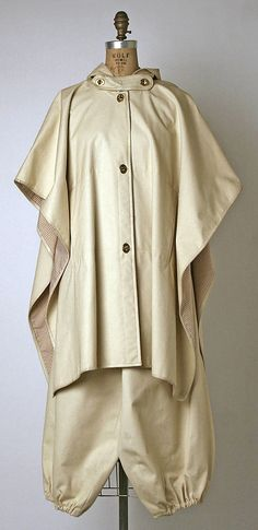 Ensemble by Bonnie Cashin, Spring/Summer 1977. Cotton, leather, metal