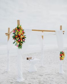 Romantic Seaside Wedding arbor Destination beach weddings ... need I say more?! What a picture perfect place to exchange vows and become husband and wife! The Winds…