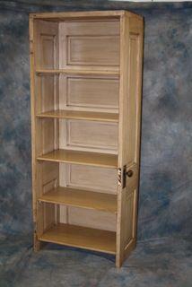 shelf made out of a door