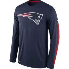 Men's New England Patriots Nike Navy Legend Logo Long Sleeve Performance T-Shirt