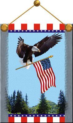 Patriotic Eagle by Oxana59.deviantart.com on @DeviantArt