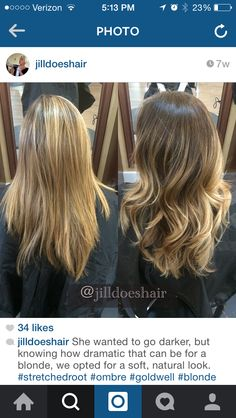 @jilldoeshair blonde hair ombré balayage stretched root