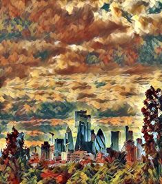 London from the trees Pinterest Co, Artsy, Trees, London, Painting, Painting Art, Paintings, Home Decor Trees, Wood