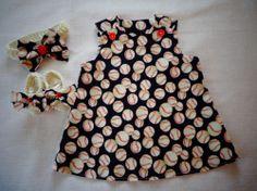 $19.99 Baby Newborn 0-3mo Girl Dress Headband Booties Set Baseball MLB Fan Handmade