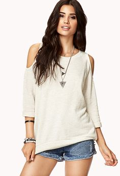 Im loving cut out shoulder sweaters and shirts right now!