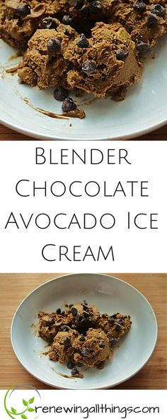 Blender Chocolate Avocado Ice Cream- dairy and sugar free! Great for whole30 or 21SD