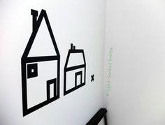 Love Sweet Home ! Masking Tape #kutchetcouture #wall #washi