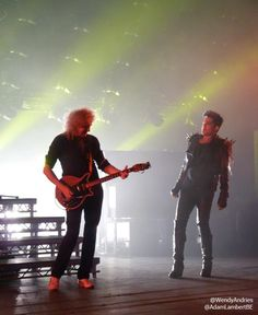 Brian May & Adam Lambert, London show, 12th July 2012 | Source: @WendyAndries @AdamLambertBE