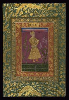 Portrait of Shah 'Abbas I of Iran, painted in India a century after his reign