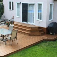A Patio Deck Design will add beauty to your home. Creating a patio deck design is an investment that will […] Sloped Garden, Trex Deck Designs, Brick Patios, Patio Design, Deck Design, Building A Deck, Gorgeous Houses, Deck Stairs