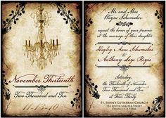 Vintage Wedding Invites. www. etsy.com