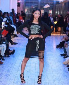 Designer- Donnevon K.I.N GDCute all Black Pencil Skirt Crop Top Outfit