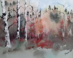 Original Watercolor Painting Landscape Painting
