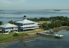 Tampa Bay Watch Weddings - Aerial view of Tampa Bay Watch...incredible waterfront wedding venue near St Pete Beach, FL!