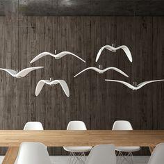 Creative bird resin Pendant Lights Personality Seagull Pendant Lamp Barroom Pendant Loft/Bar/Dining Room suspension luminaire
