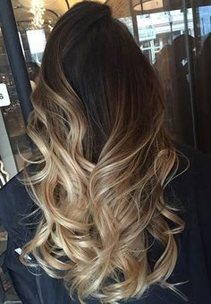 Blonde Balayage Ombre on Dark Hair
