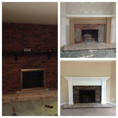 Elizabeth, this would look good for Aunt Carol's basement fireplace makeover - the general idea...